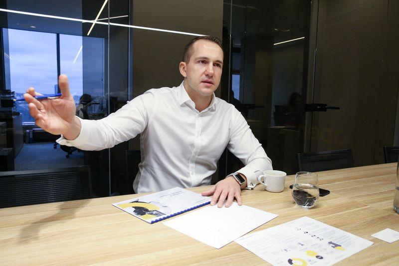 """Audrius Milukas, """"Open Circle Capital"""" partneris ir vadovas, sako, kad fondas ieško patyrusios komandos, turinčios produktą ir klientų. Vladimiro Ivanovo (VŽ) nuotr."""