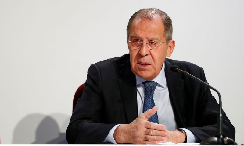"""Rusijos užsienio reikalų ministras Sergejus Lavrovas. Alessandro Garofalo (""""Reuters"""" / """"Scanpix"""") nuotr."""