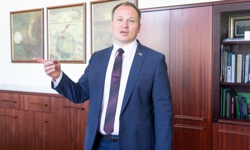 Žemės ūkio ministras Giedrius Surplys. Juditos Grigelytės (VŽ) nuotr.