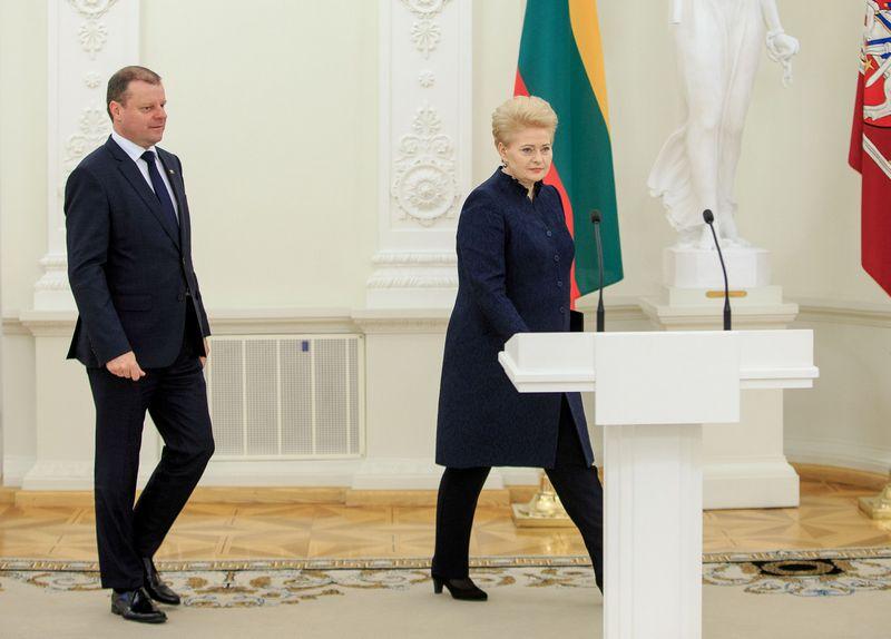 Saulius Skvernelis, Dalia Grybauskaitė. Vladimiro Ivanovo (VŽ) nuotr.