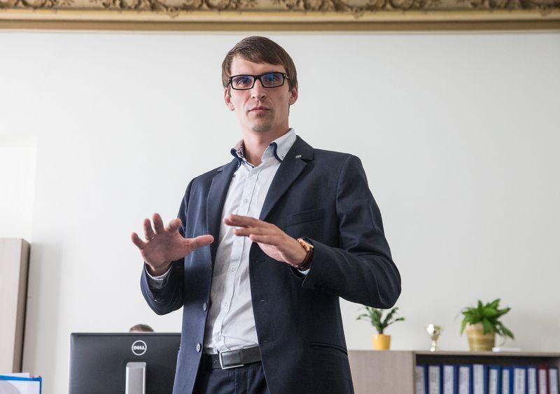 """Mantvydas Štareika, """"Coface Baltics"""" generalinis direktorius. Juditos Grigelytės (VŽ) nuotr."""