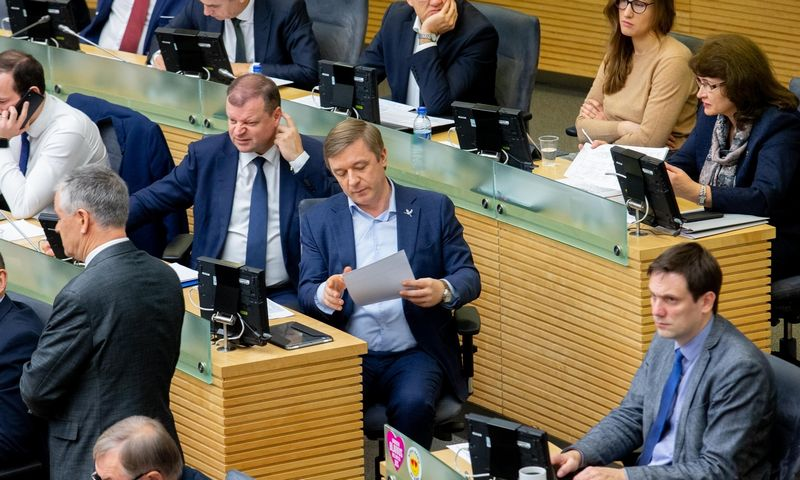 Seime vyksta biudžeto priėmimas. Juditos Grigelytės (VŽ) nuotr.