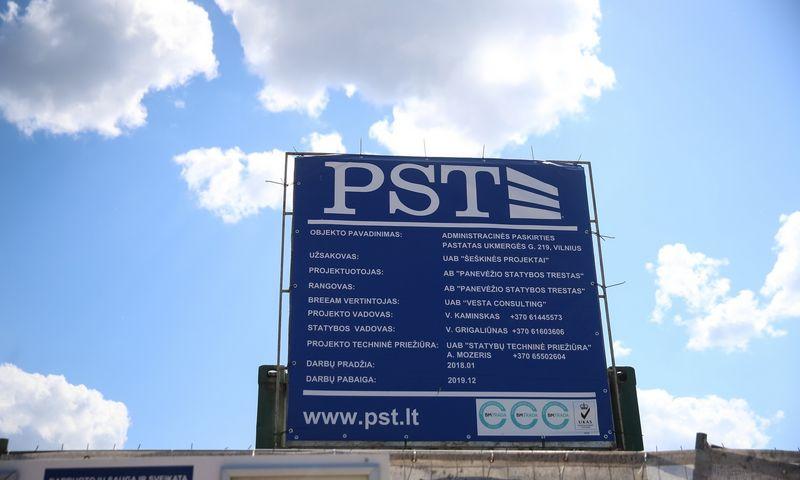 """""""Panevėžio statybos trestas"""" (PST) stato biurų projektą Vilniuje, Ukmergės g. 219. Vladimiro Ivanovo (VŽ) nuotr."""