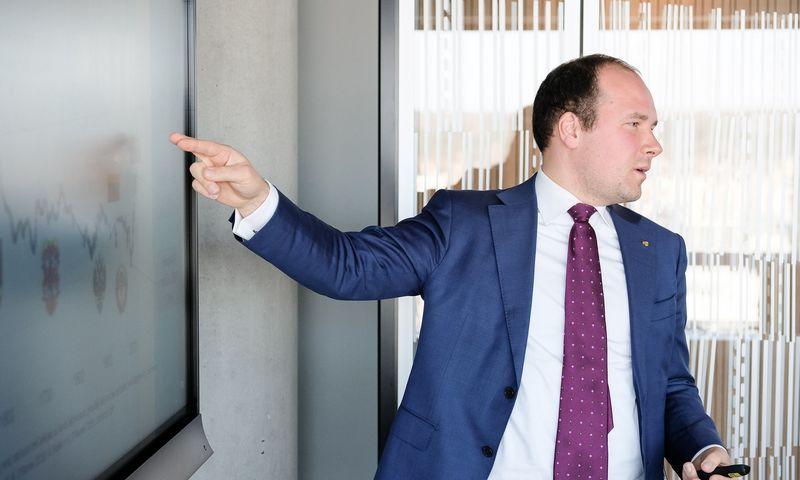 """Žygimantas Mauricas, """"Luminor"""" ekonomistas. Juditos Grigelytės (VŽ) nuotr."""