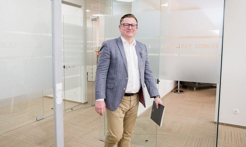 """Modestas Kaseliauskas, kriptovaliutų konsultacijų įmonės """"CryptoTax & Legal"""" vienas steigėjų. Juditos Grigelytės (VŽ) nuotr."""
