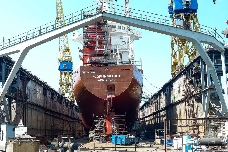 """Po tragiško incidento """"Vakarų laivų gamykloje""""– ir aplinkosaugininkų tyrimas"""