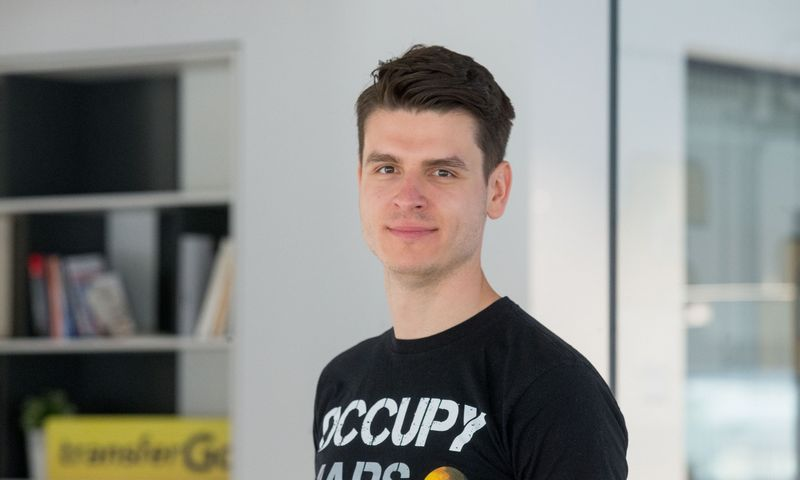 """""""TransferGo"""" vadovas ir vienas įkūrėjų Daumantas Dvilinskas. Juditos Grigelytės (VŽ) nuotr."""