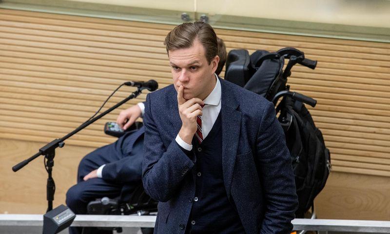 Gabrielius Landsbergis, Tėvynės sąjungos-Lietuvos krikščionių demokratų partijos pirmininkas. Juditos Grigelytės (VŽ) nuotr.