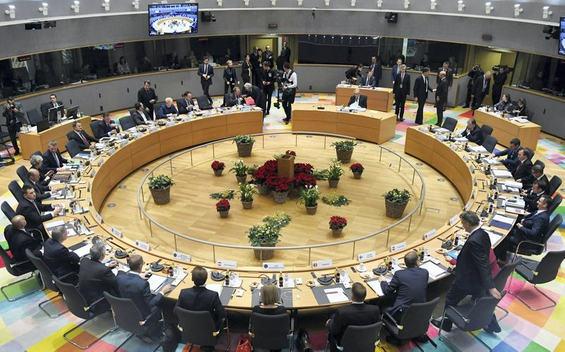 Europos Sąjungos Vadovų tarybos posėdyje pradėti 2021-2027 m. bendrijos ilgamečio biudžeto svarstymai. Piroschka van de Wouw (Reuters/Scanpix) nuotr.