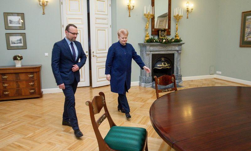 Prezidentūroje lankosi kandidatas į Švietimo ministrus Mindaugas Kvietkauskas. Juditos Grigelytės (VŽ) nuotr.
