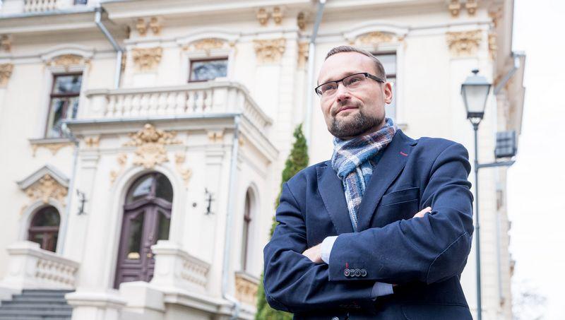 Mindaugas Kvietkauskas, Lietuvių literatūros ir tautosakos instituto direktorius. Juditos Grigelytės (VŽ) nuotr.