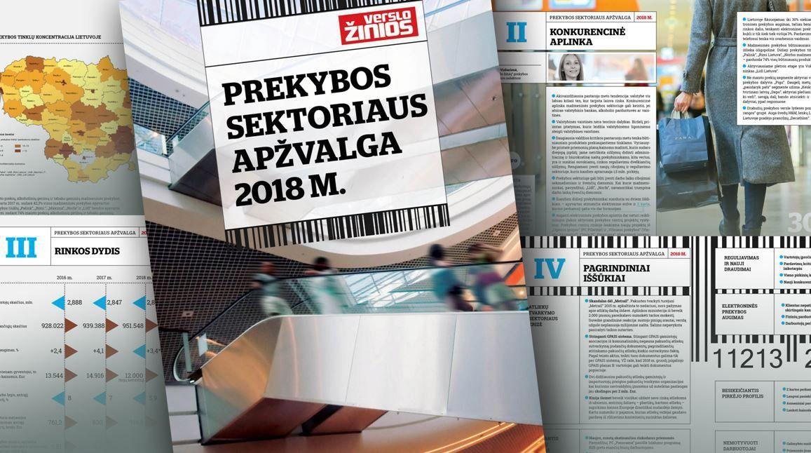 """Naujas VŽ leidinys:""""Prekybos sektoriaus apžvalga 2018"""""""