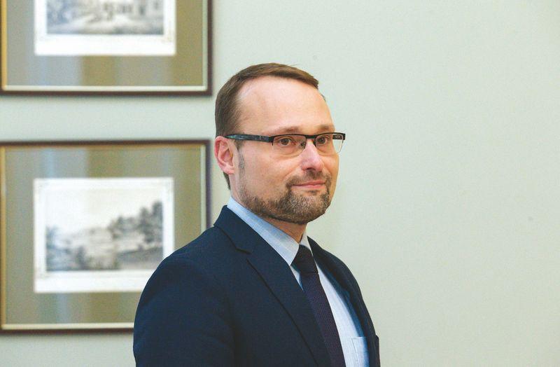 Mindaugas Kvietkauskas jau pabendravo su prezidente ir laukia paskyrimo. Vladimiro ivanovo (VŽ) nuotr.