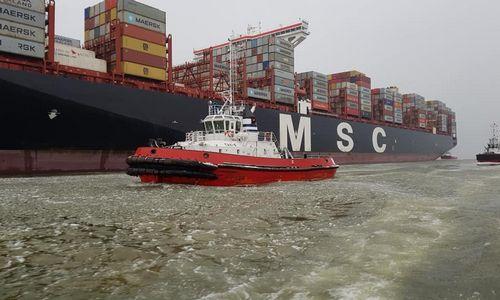 Klaipėdą aplankė didžiausias uosto istorijoje laivas
