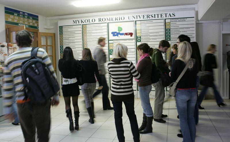 Studentai Mykolo Romerio universitete. Juditors Grigelytės (VŽ) nuotr.