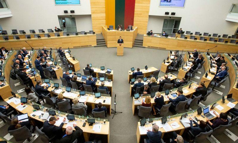 Valdantieji per metus neišbarstė Seime turimos daugumos. Juditos Grigelytės (VŽ) nuotr.