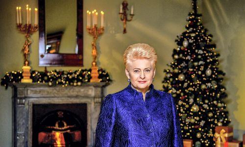 D. Grybauskaitė sveikina Lietuvos žmones