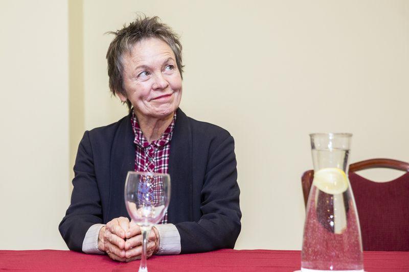 Laurie Anderson koncerte Vilniuje politikos netrūko. Luko Balandžio nuotr.