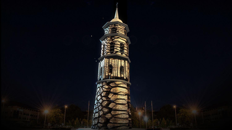 Vilnius Naujuosius pasitiks instaliacija ant Varpinės bokšto