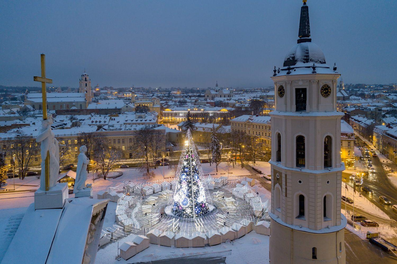 Pasaulis ir šiemet įvertino Vilniaus kalėdinę eglę
