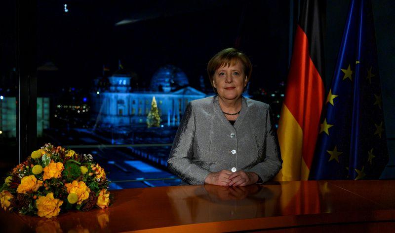 """Vokietijos kanclerė Angela Merkel.  Johno Macdougall (""""Reuters"""" / """"Scanpix"""") nuotr."""