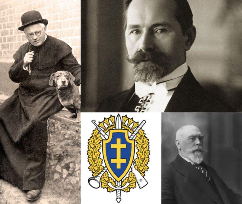 Iš kairės: Juozas Tumas-Vaižgantas, Antanas Smetona, Juozas Naujalis. VŽ koliažas.