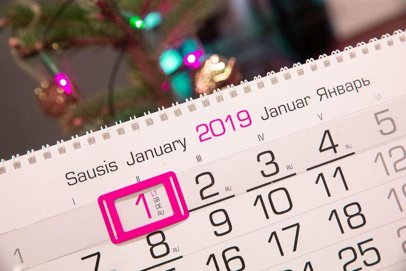 2019 m. kalendorius bus kupinas įvykių ir Lietuvoje, ir pasaulyje. Juditos Grigelytės (VŽ) nuotr.