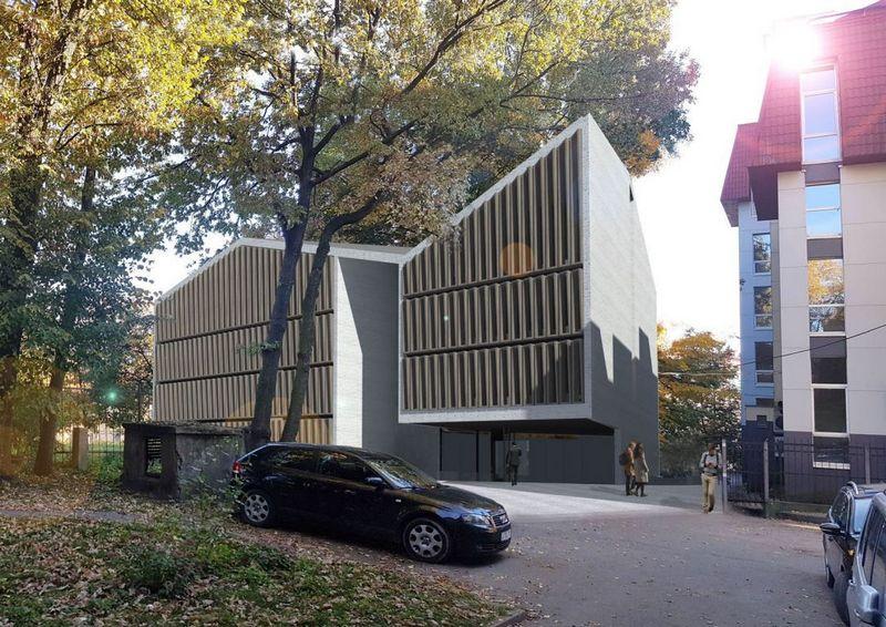 """Projektą parengė architektai Vytautas Silevičius, Velentinas Vileikis, Egidijus Petroška ir Irmantas Gudaitis. """"Archimodus"""" vizualizacija."""