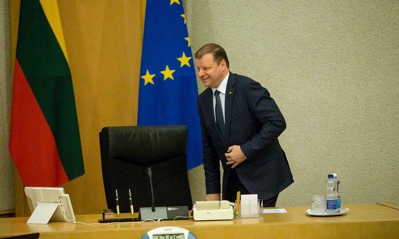 Strateginių projektų portfelio komisijai vadovauja premjeras Saulius Skvernelis. Vladimiro Ivanovo (VŽ) nuotr.