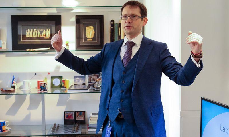 """Germanas Kavalskis, įmonių grupės """"Penki kontinentai"""" komunikacijos vadovas. Vladimiro Ivanovo (VŽ) nuotr."""