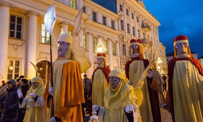 Trijų karalių eisena sostinėje. Vilniaus miesto savivaldybės nuotr.