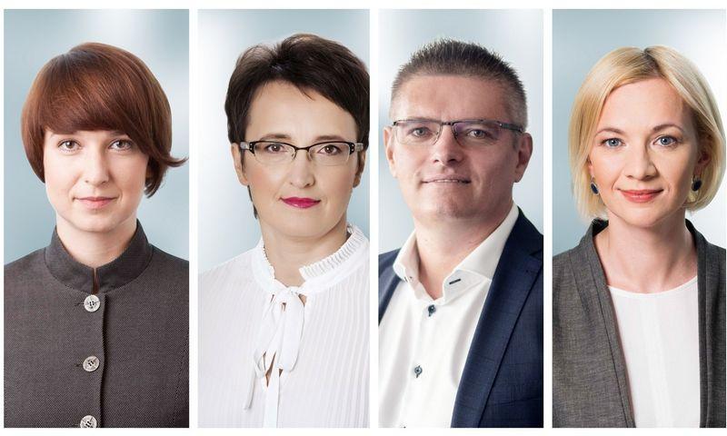 """Naujieji """"Magnusson"""" partneriai: (iš kairės) Eglė Akelė, Dalia Stakvilevičiūtė, Eligijus Vinckus, Rūta Didikė."""