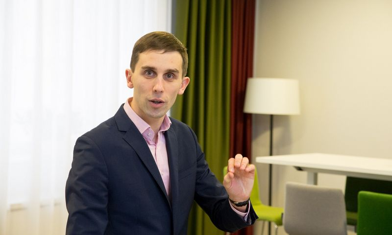 Tadas Povilauskas, SEB banko vyriausiasis analitikas. Juditos Grigelytės (VŽ) nuotr.