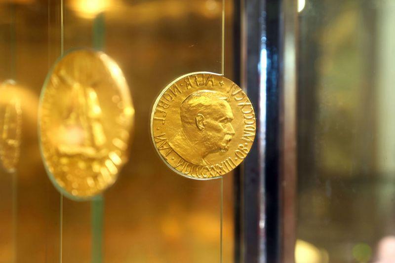 """Medalis Nobelio taikos centre Osle. Piergiorgio Pescali (""""SIPA"""" / """"Scanpix"""") nuotr."""
