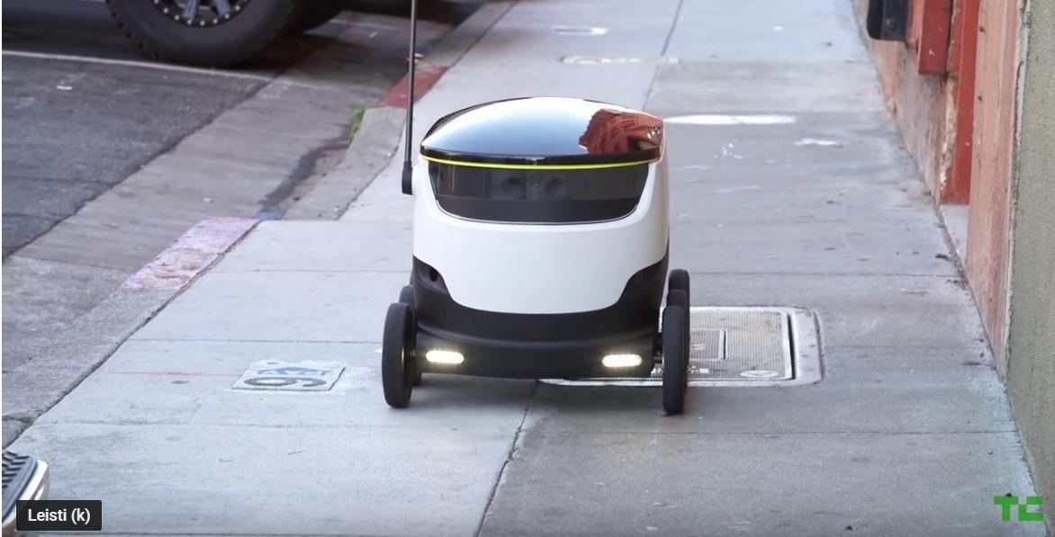 Talino gyventojamssiuntas pristato robotas