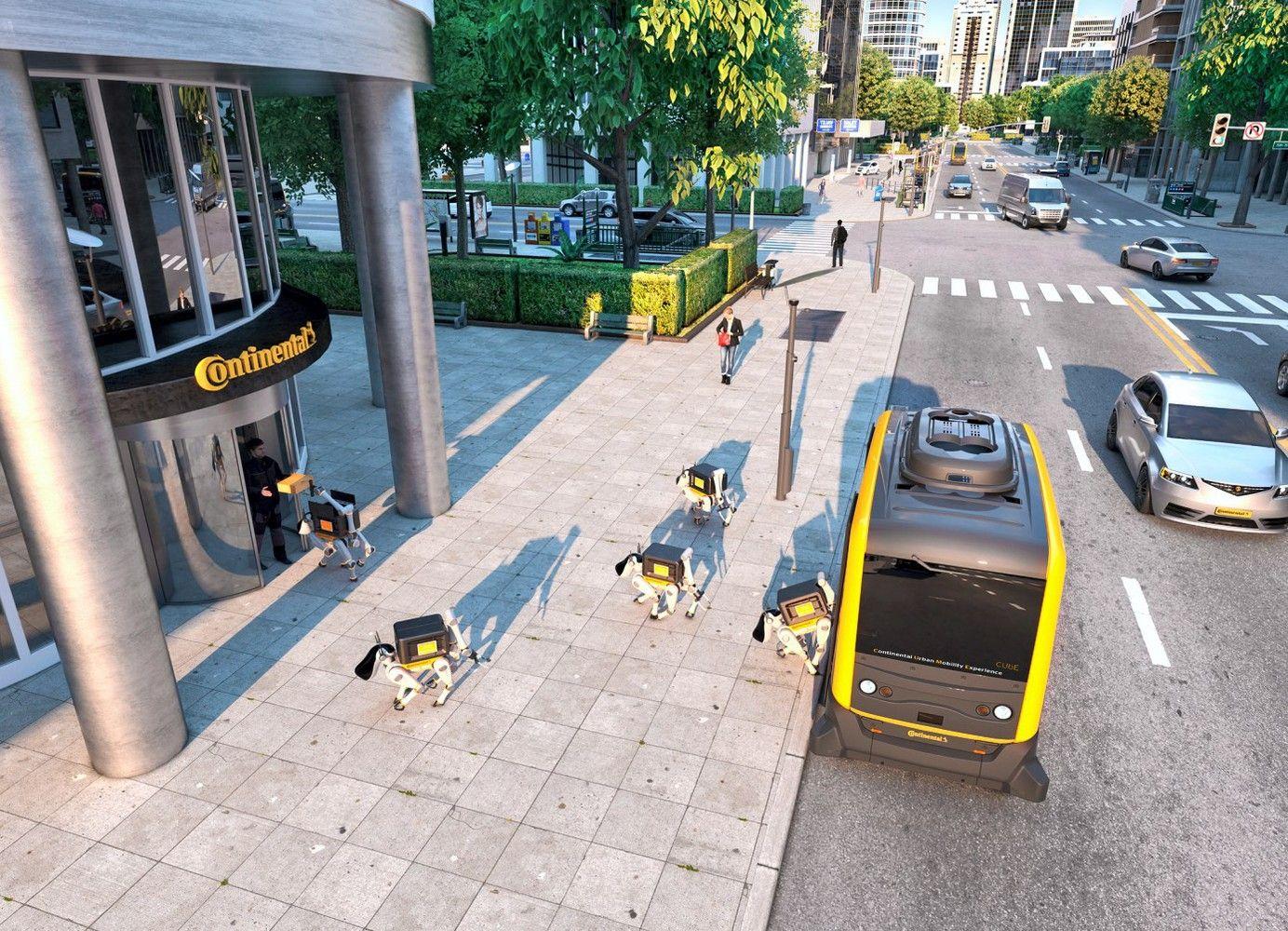 """""""Continental"""" vizija: siuntas pristatys šunys robotai"""