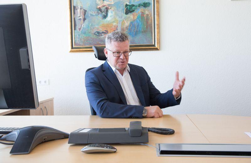"""Algimantas Markauskas, """"Thermo Fisher Scientific Baltics"""" generalinis direktorius: """"Prietaisų taikymo sritys – labai plačios, nuo gyvybės mokslų centrų iki chemijos, aplinkosaugos ar maisto pramonės"""". Juditos Grigelytės (VŽ) nuotr."""