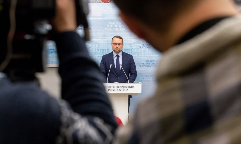Prezidentūroje lankosi kandidatas į Kultūros ministrus Mindaugas Kvietkauskas. Juditos Grigelytės (VŽ) nuotr.
