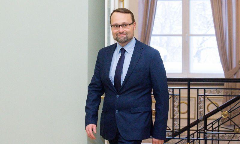 Naujasis kultūros ministras Mindaugas Kvietkauskas. Juditos Grigelytės (VŽ) nuotr.