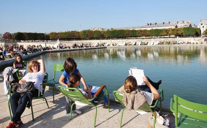 Prancūzijos sostinė Paryžius. Paryžiečiai ilsisi. Beatričės Laurinavičienės nuotr.