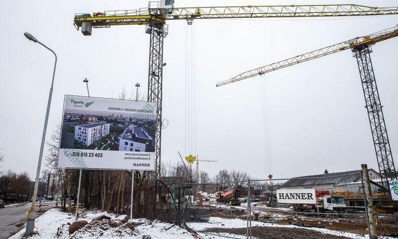 """""""Hanner"""" statybos Vilniaus Linkmenų g. Juditos Grigelytės (VŽ) nuotr."""