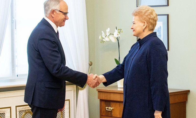 Algirdas Monkevičius susitiko su prezidente Dalia Grybauskaite. Juditos Grigelytės (VŽ) nuotr.