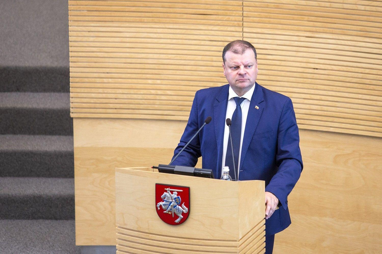 """S. Skvernelis sako, kad Lietuva tęs pasiruošimą """"Brexit"""" be susitarimo"""