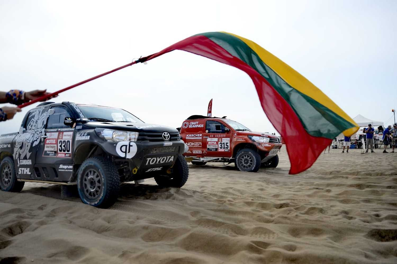 Priešpaskutinę Dakaro dieną – įspūdingas lietuvių pasirodymas