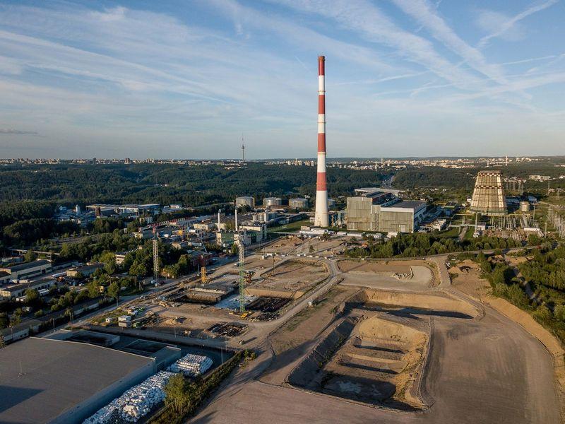 350 mln. Eur vertės Vilniaus kogeneracinė jėgainė statoma Gariūnuose. Vladimiro Ivanovo (VŽ) nuotr.
