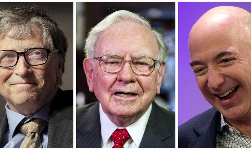 """Dabar pasaulyje priskaičiuojama 2.208 milijardieriai, arba beveik dvigubai daugiau negu prieš dešimtmetį, kai rinkas krėtė ekonominė krizė. """"Reuters"""" / """"Scanpix"""" nuotr."""
