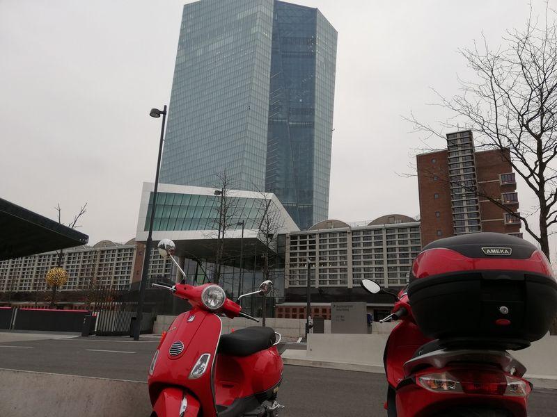 ECB būstinė Frankfurte. Pauliaus Čiulados (VŽ) nuotr.