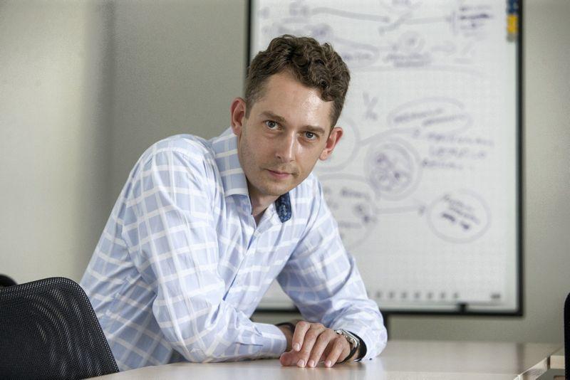 Mokslo ir studijų stebėsenos ir analizės centro (MOSTA) vadovas  Ramojus Reimeris. Juditos Grigelytės (VŽ) nuotr.