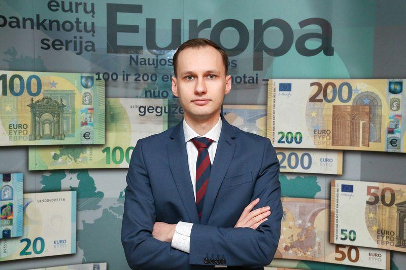Martynas Solovjovas, LB Ilgalaikių taupymo ir draudimo produktų priežiūros skyriaus vyriausiasis specialistas. Vladimiro Ivanovo (VŽ) nuotr.