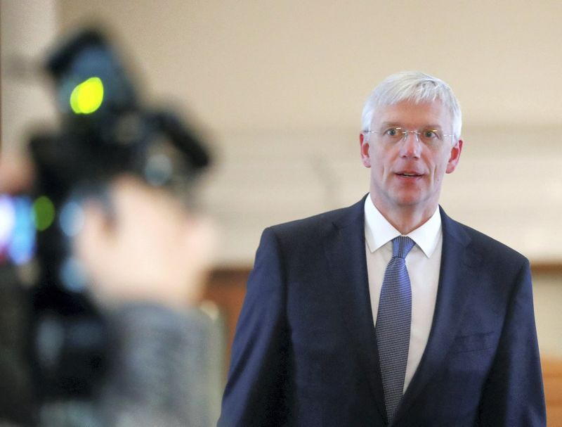 Krisjanis Karinis tapo naujuoju Latvijos ministru pirmininku. Ints Kalnins (Reuters/Scanpix) nuotr.